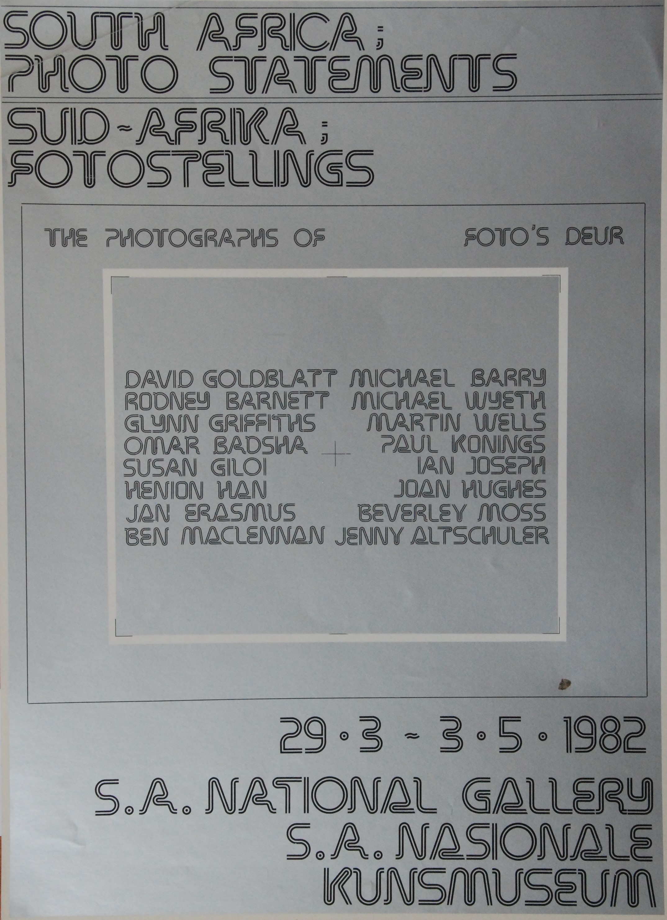South Africa: Photo Statements Poster 1982