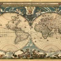 A World Map from the 1600s