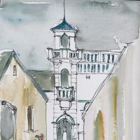 Alfred lane mosque in Simon's Town- art by Kenneth Alexander