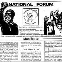 National Forum Manifesto