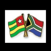 Togo and South Africa flags, featured on an enamel pin