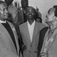 Robert Sobukwe with Potlako Leballo
